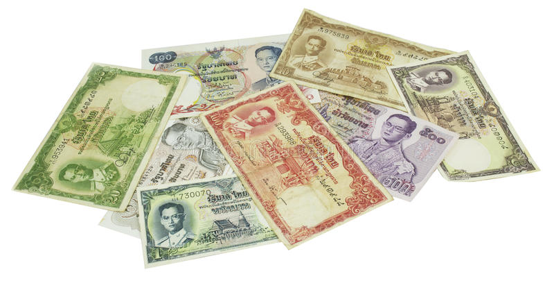 Тайские деньги стоковые изображения