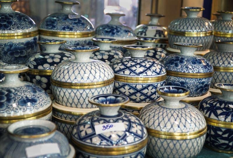 Тайские искусство и ремесло Benjarong запрещают Donkaidee Samutsakorn, его пятизвездочный стандарт с международными стандартами стоковые фото