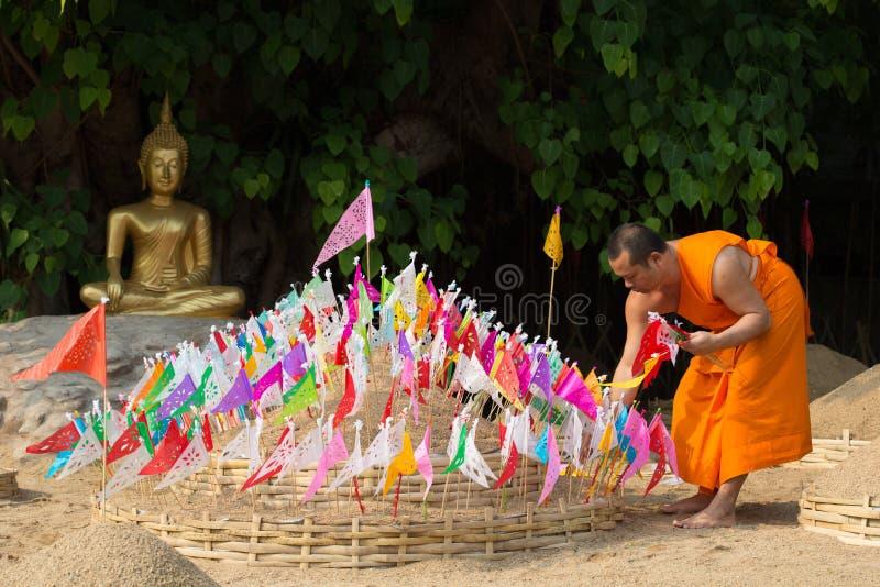 Тайские монахи в виске Pantao. стоковые фотографии rf