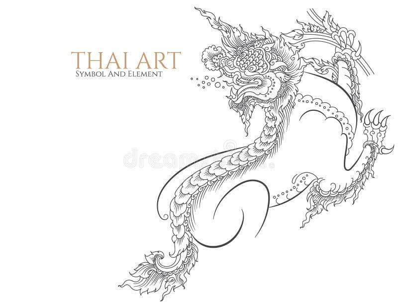 Тайские символ и элемент искусства бесплатная иллюстрация
