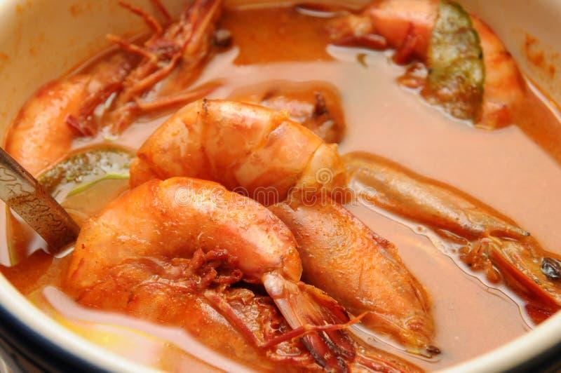Тайские тарелки - батат Kung Tom стоковое фото rf