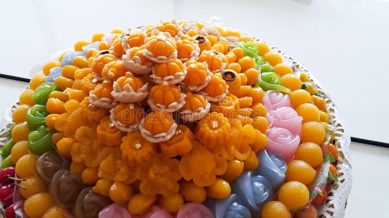 Тайские традиционные десерты стоковая фотография
