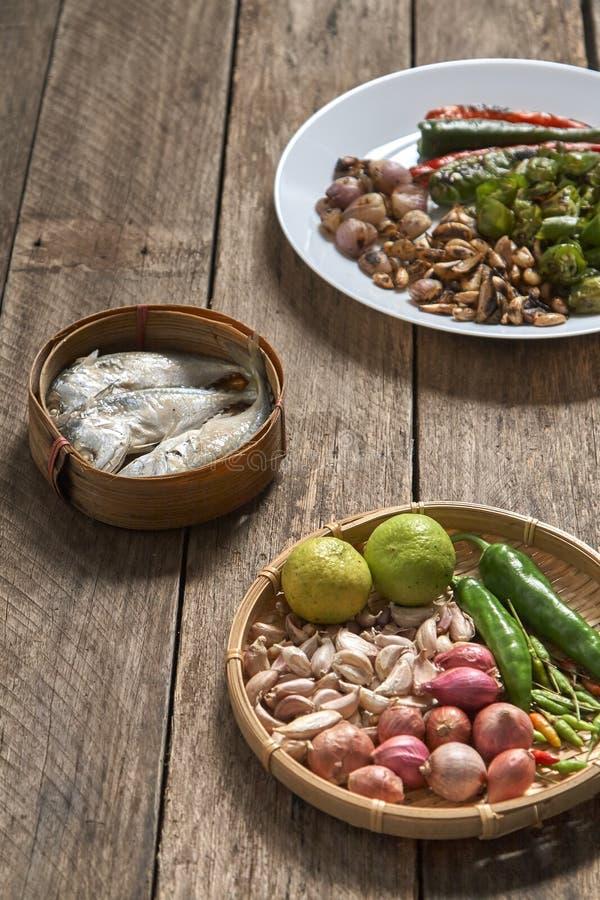 Тайские prik nam кухни или затир chili смешивают стоковая фотография rf