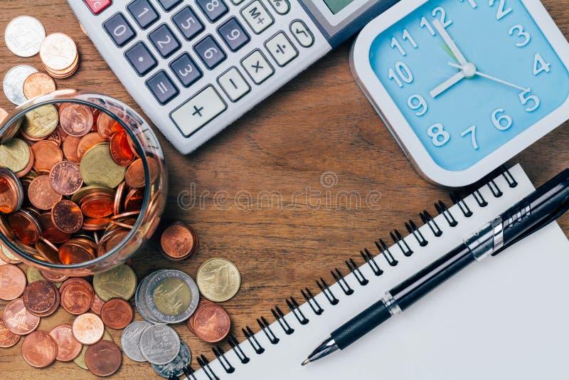 Тайский бат чеканит деньги, финансовый план стоковые изображения