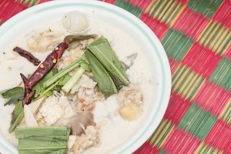 Download Тайский белый суп. стоковое фото. изображение насчитывающей трава - 33726164