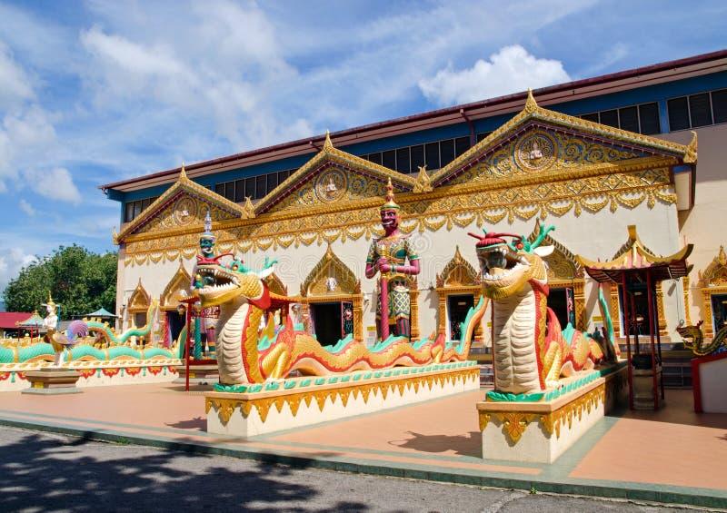 Тайский буддийский висок в Penang, Малайзии стоковое изображение