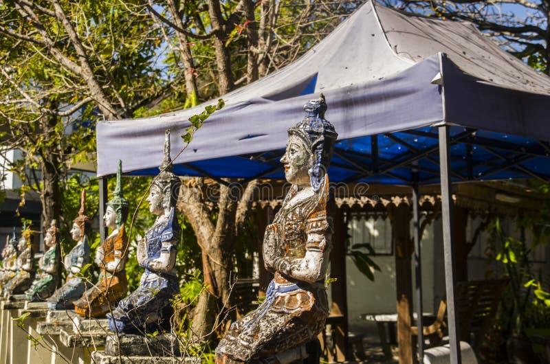 Тайский висок в chiangmai, Таиланде стоковые изображения rf