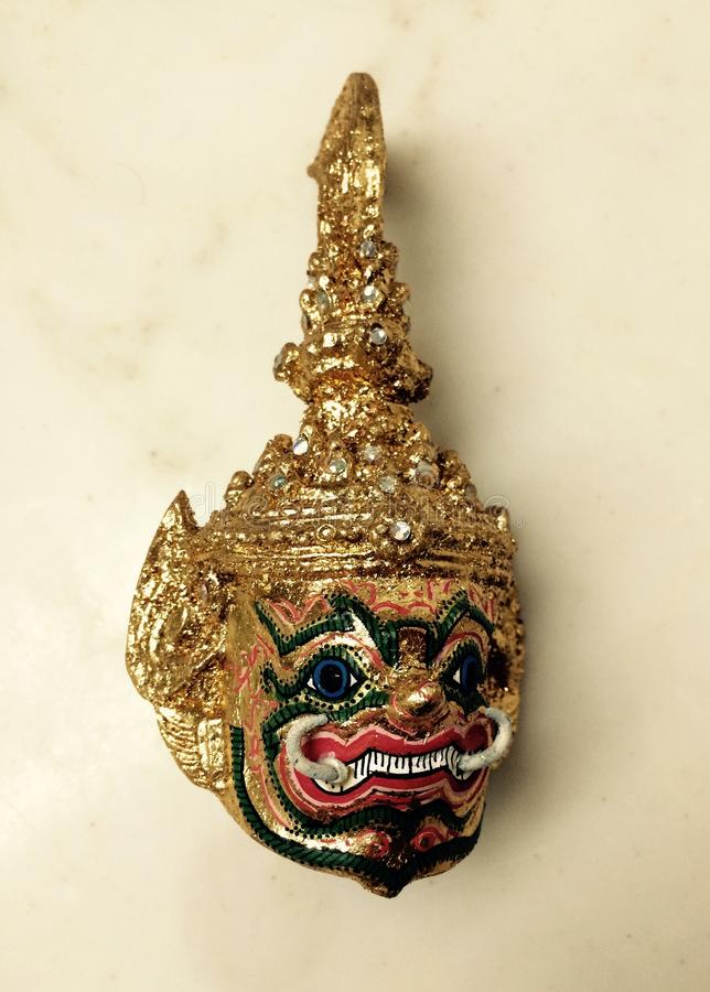Тайский гигантский головной убор Ramayana стоковое фото
