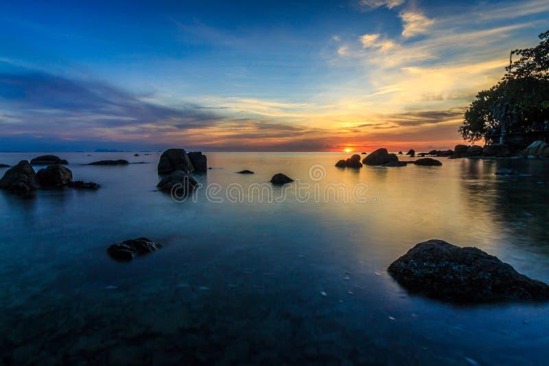 Тайский заход солнца стоковые изображения rf