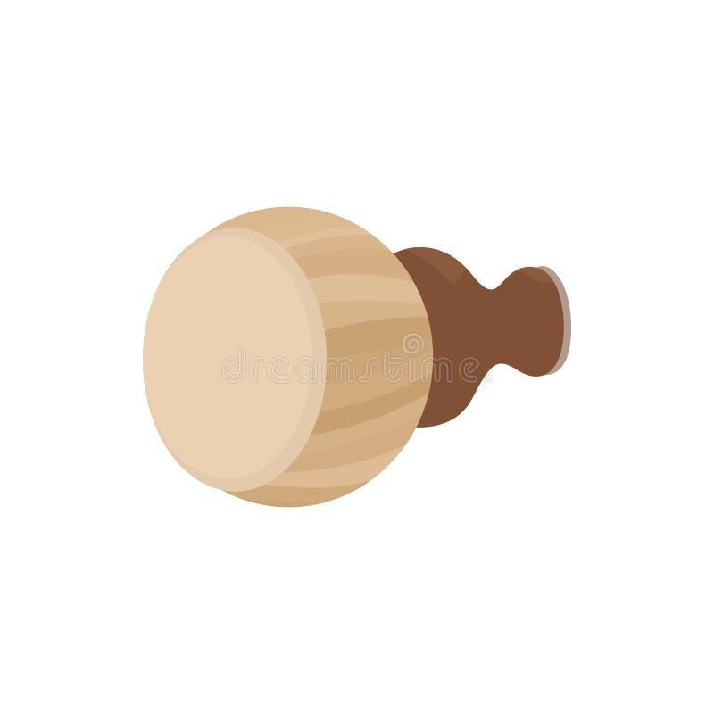 Тайский значок барабанчика, стиль шаржа иллюстрация штока