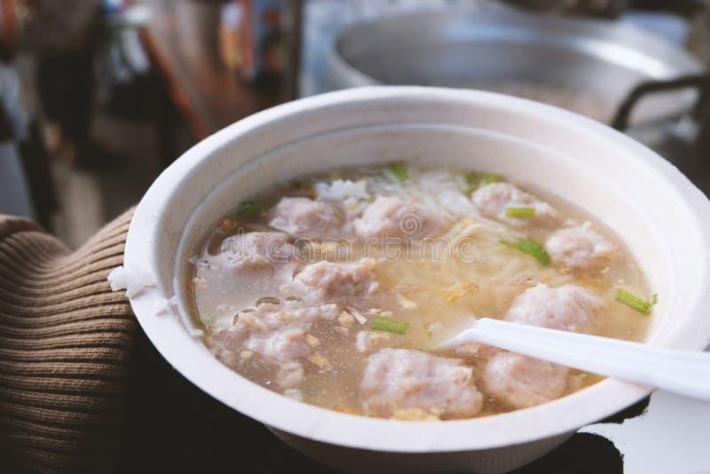 Тайский кипеть рис стиля стоковое фото