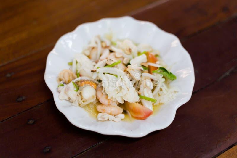 Тайский кислый салат гриба креветки стоковые фото