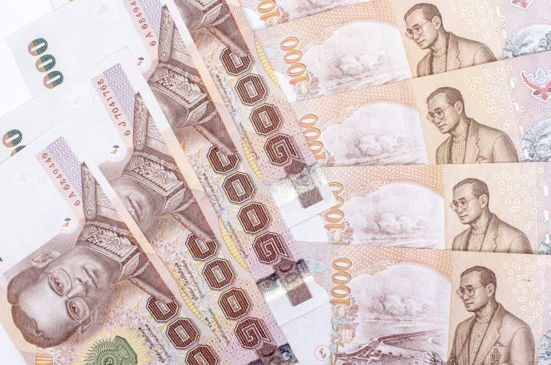 Тайский крупный план банкнот денег стоковые изображения rf