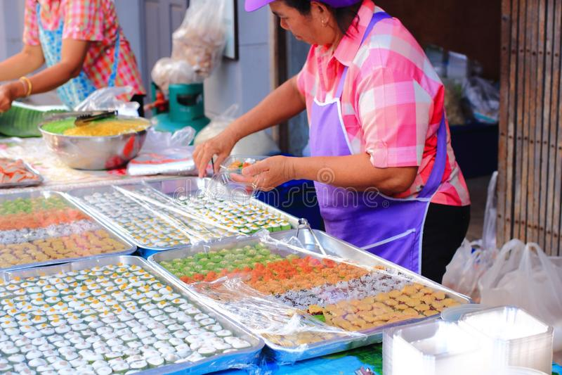 Тайский магазин десерта стоковое изображение rf