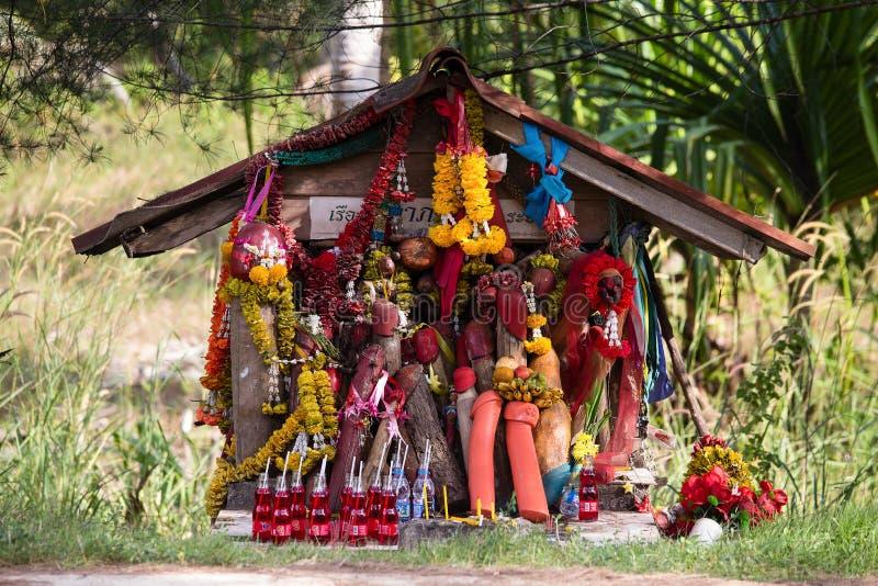 Тайский дом духа стоковые изображения rf