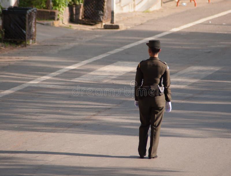 Тайский офицер армии стоковые изображения