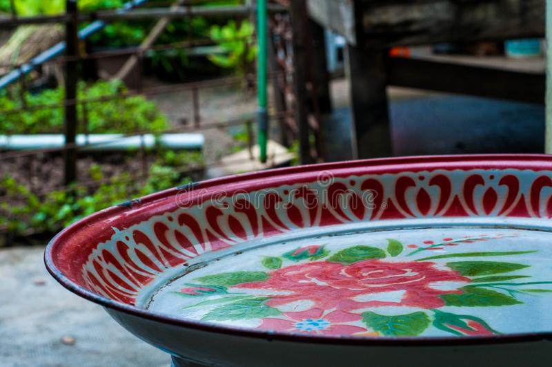 Тайский поднос еды стиля стоковая фотография