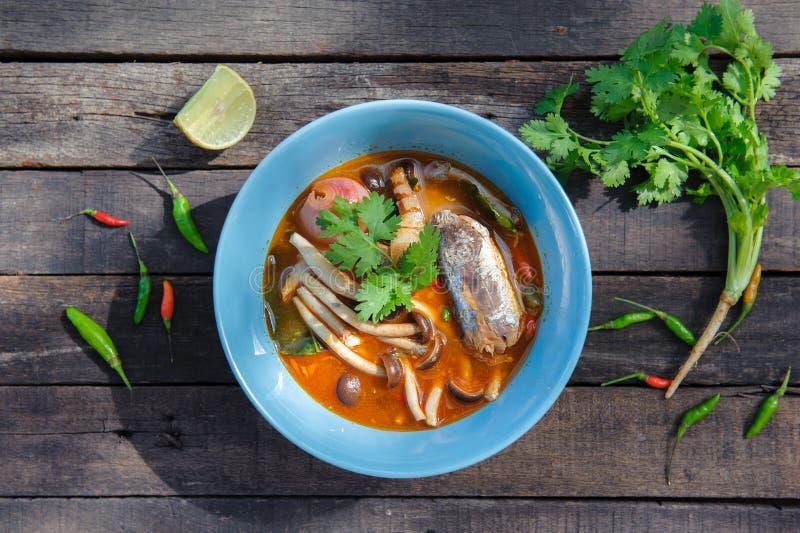 Тайский пряный законсервированный салат сардин стоковая фотография rf