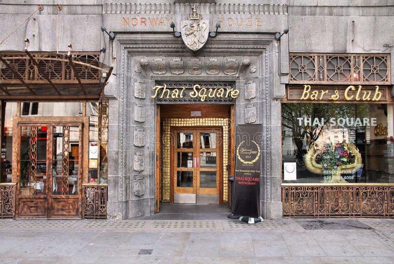Тайский ресторан в Лондоне стоковое изображение