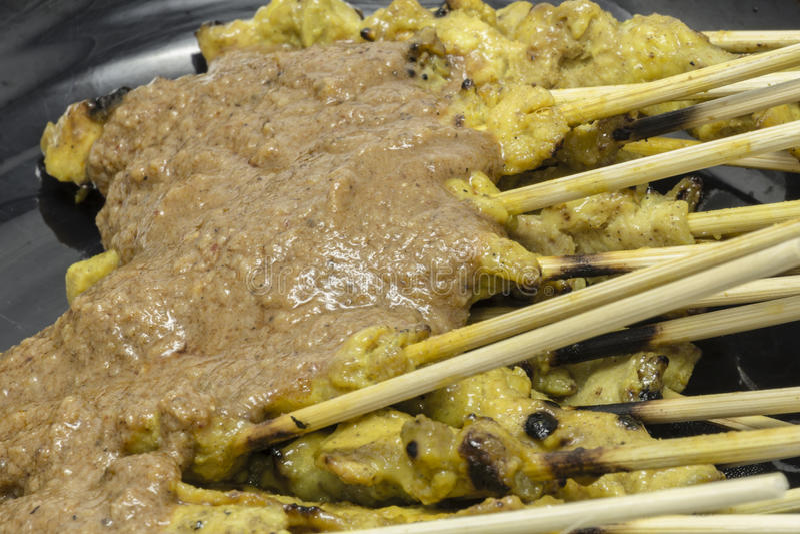 Тайский свинина еды satay стоковое фото rf