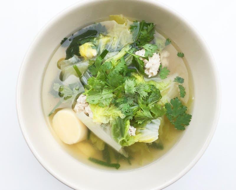 Тайский суп капусты и свинины стоковые изображения