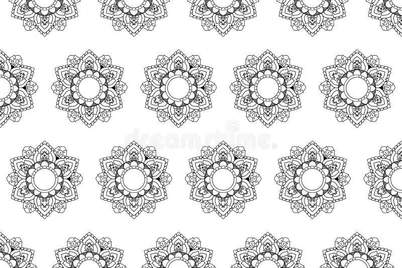 Тайский традиционный дизайн предпосылки вектора мандалы картины бесплатная иллюстрация