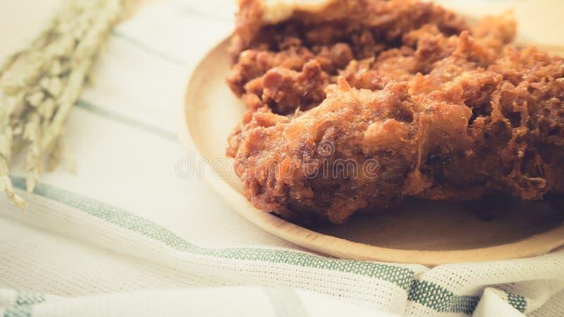 Тайский увольнянный цыпленок стоковые фотографии rf