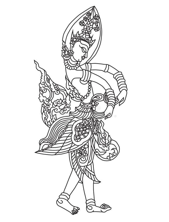 Тайский угол 1 искусства иллюстрация вектора