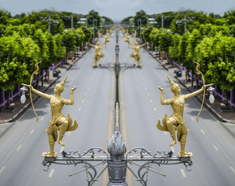 Тайский уличный фонарь искусства стоковая фотография rf
