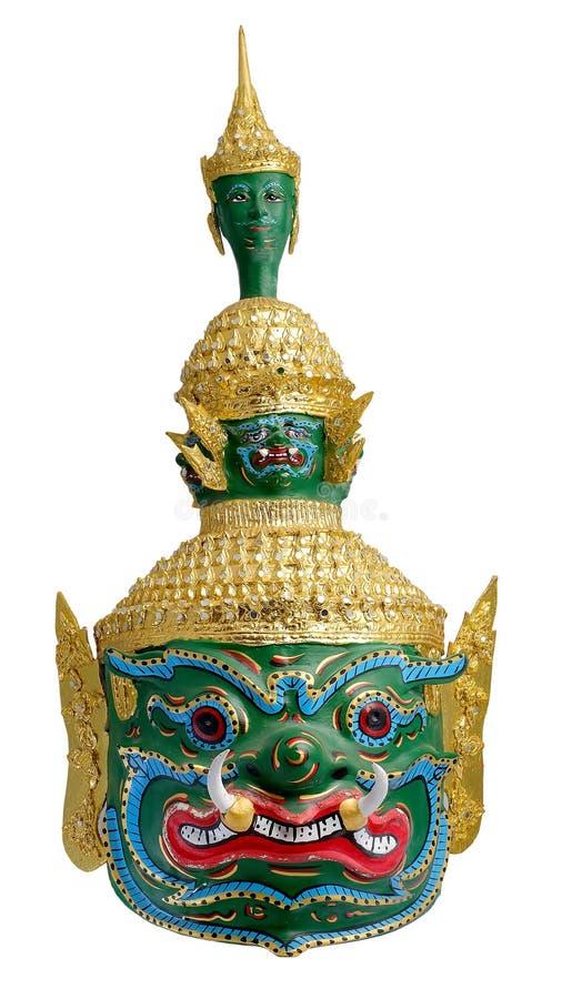 Тайский & x22; Khon& x22; маска & x22; Tossakan& x22; , & x22; Ravana& x22; Гиганты короля от & x22; Ramakien& x22; рассказ стоковые фото