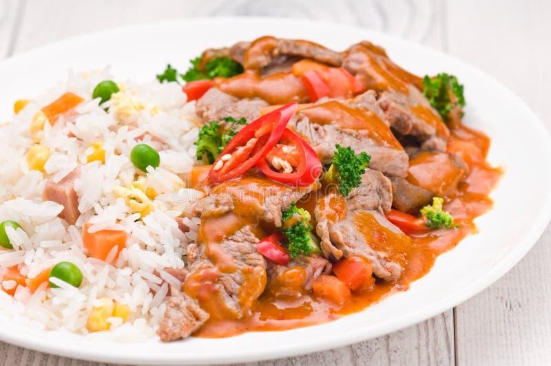 Тайское блюдо говядины Chili стоковое фото