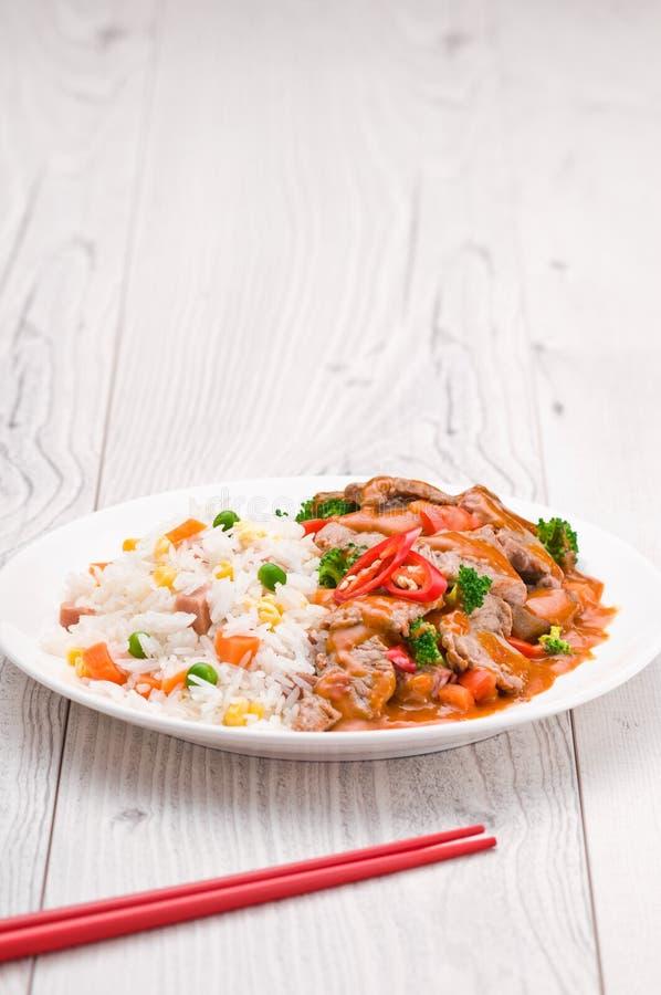 Тайское блюдо говядины Chili стоковые фотографии rf
