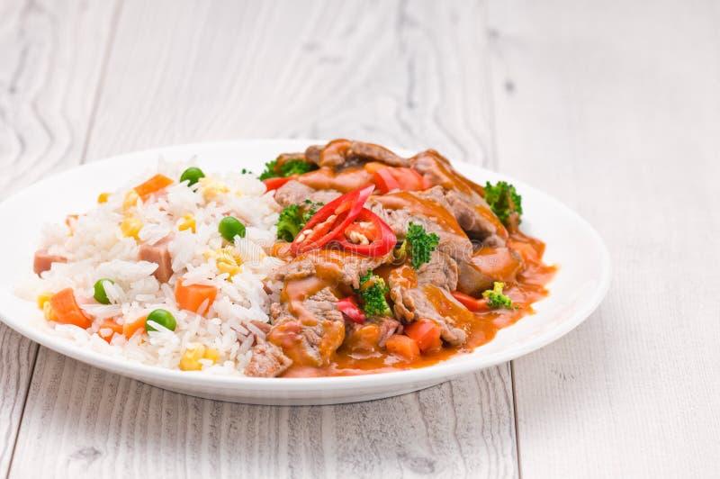 Тайское блюдо говядины Chili стоковое изображение