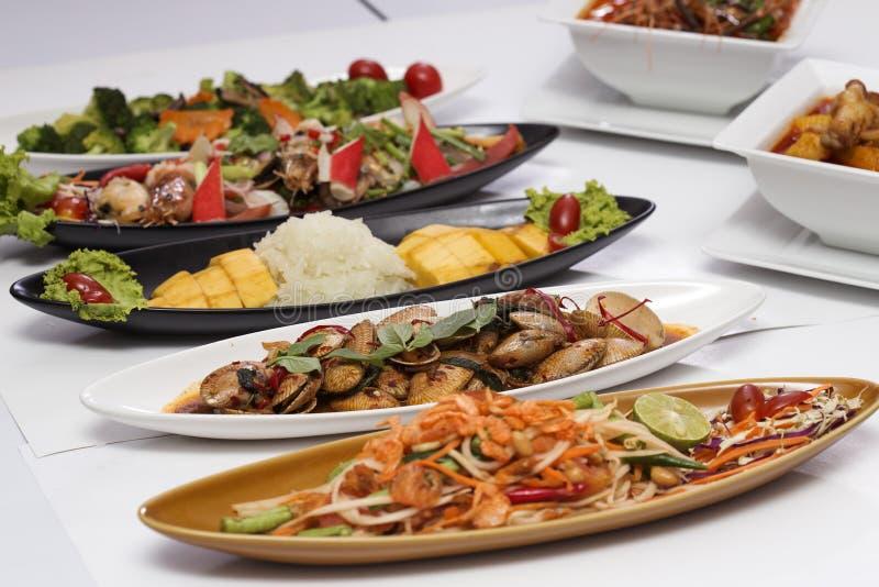 тайское еды установленное стоковая фотография rf