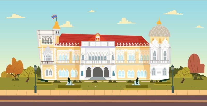 Тайское здание Дома правительства также вектор иллюстрации притяжки corel бесплатная иллюстрация