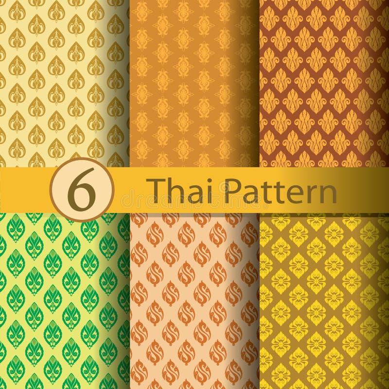 Тайское золото картины стоковые изображения rf