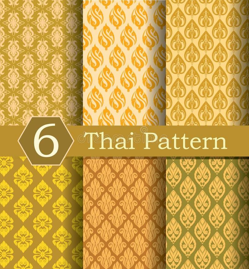 Тайское золото картины стоковое изображение