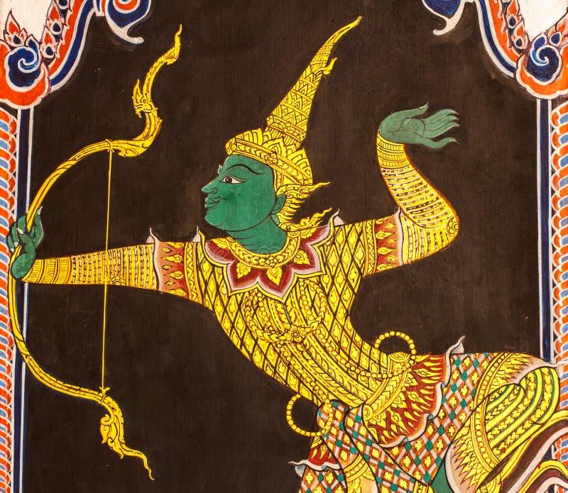 Download Тайское искусство картины стиля Стоковое Изображение - изображение насчитывающей bucky, притяжка: 37930211