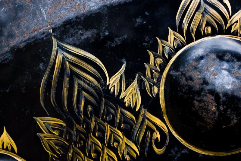 Тайское искусство на тайском колоколе стоковые фото