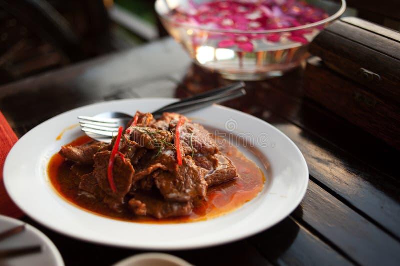 Тайское карри говядины стоковое фото rf
