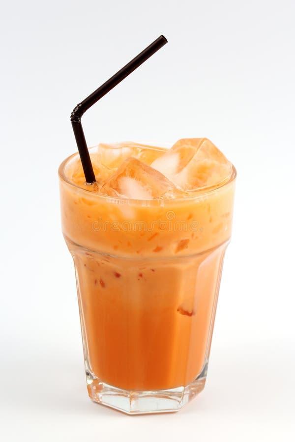 Тайское молоко чая льда стоковые изображения rf