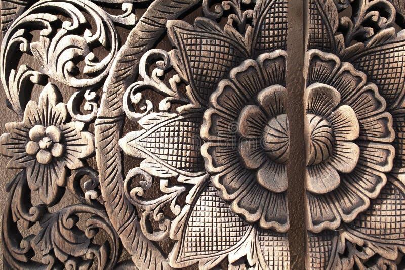 Тайское пристрастие древесины стоковая фотография rf