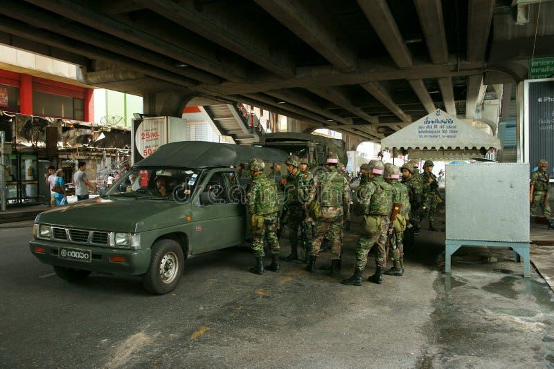 тайское Сиама патруля армии квадратное стоковое фото rf