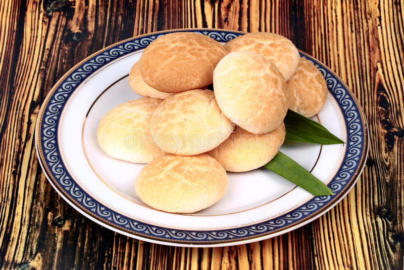 Тайское сладостное мясо сделанное из зажаренных в духовке муки, яичка и сахара стоковое фото rf