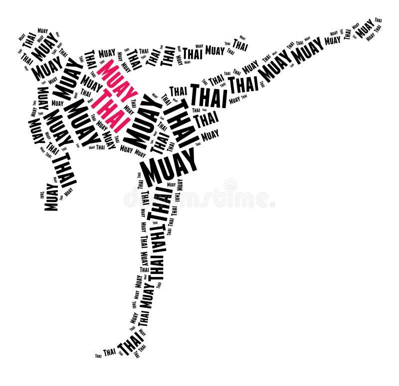Тайское Muay иллюстрация штока