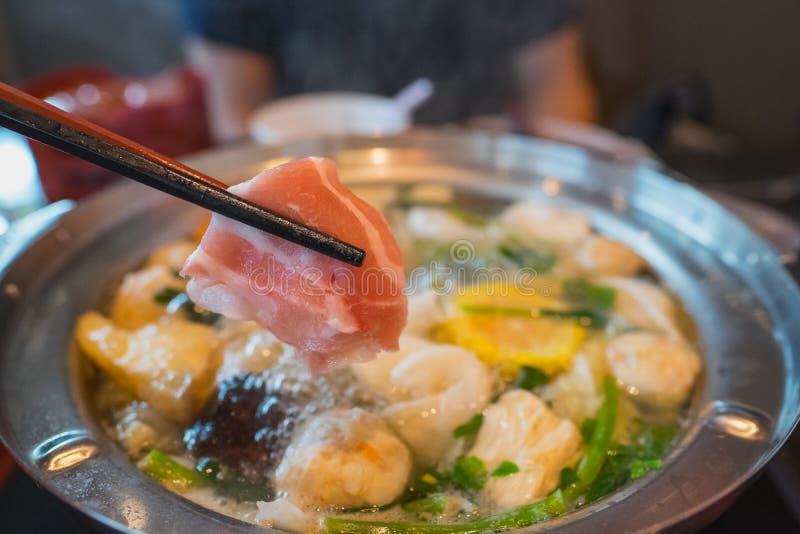 Тайское shabu sukiyaki стоковые фотографии rf