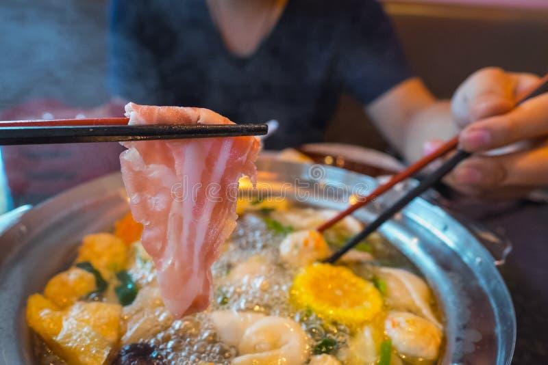 Тайское shabu sukiyaki стоковое фото