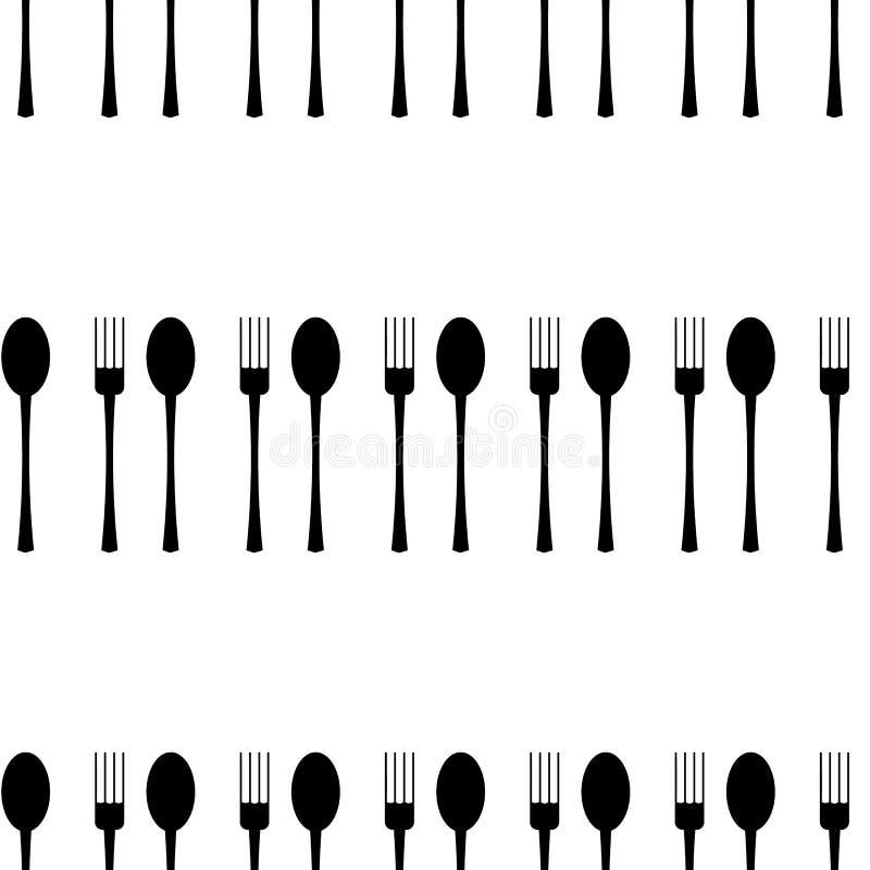 также вектор иллюстрации притяжки corel картина вилки и ложки безшовная на белой предпосылке имеющийся вектор ресторана меню конс бесплатная иллюстрация