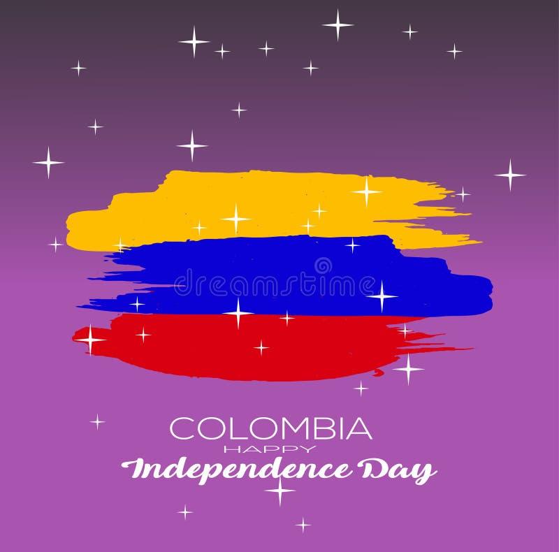 также вектор иллюстрации притяжки corel конспект на День независимости Колумбии с славной и творческой иллюстрацией дизайна в пре иллюстрация вектора