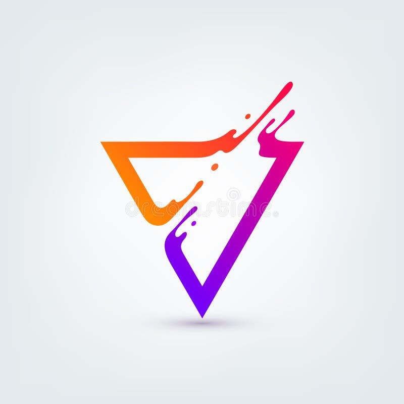 также вектор иллюстрации притяжки corel Абстрактный красочный треугольник иллюстрация вектора